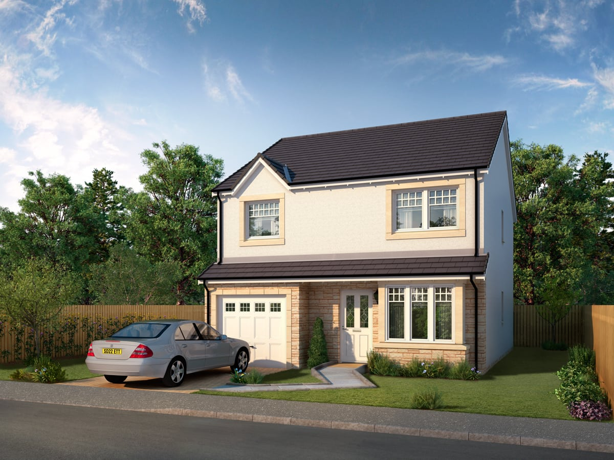 Four bedroom detached in anstruther newark housetype for New build 4 bedroom homes