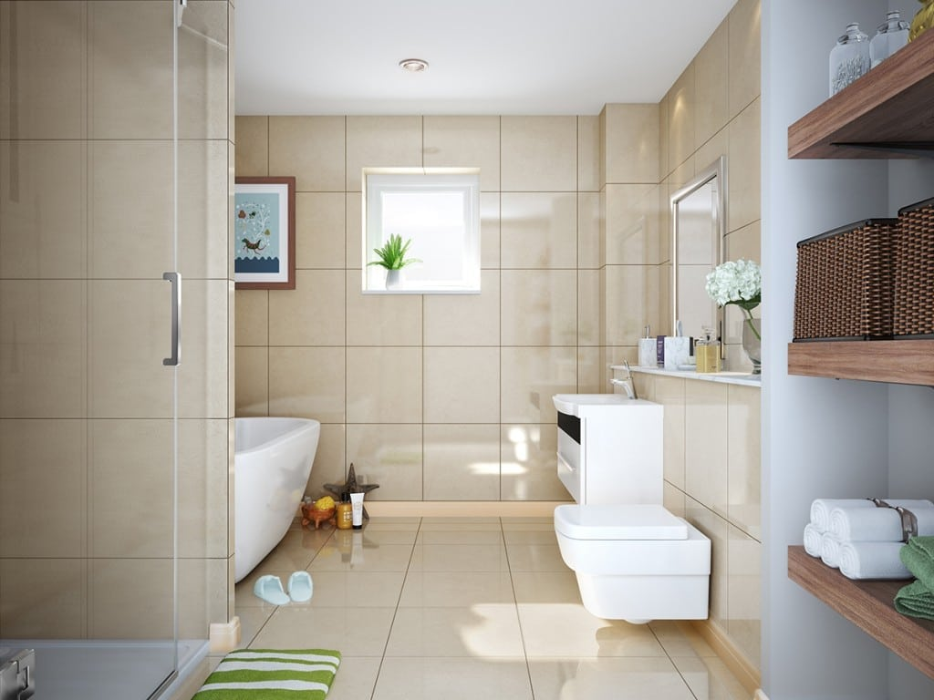 Blairs bathroom - detached houses for sale