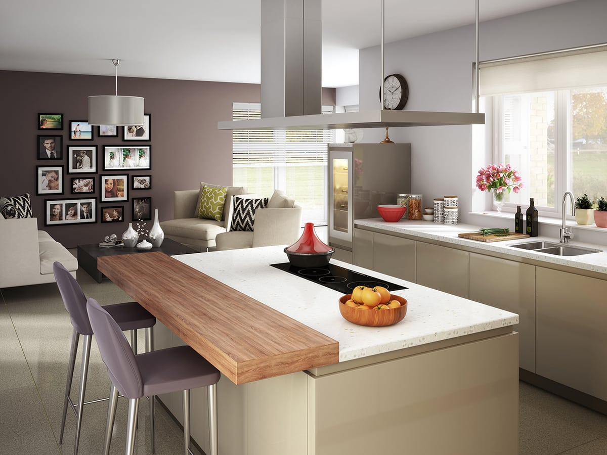 Balmoral kitchen a new property for sale from Muir Homes