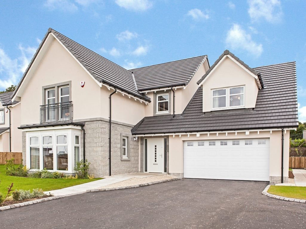 The Strathearn exterior at Blairs New Homes For Sale In Aberdeen