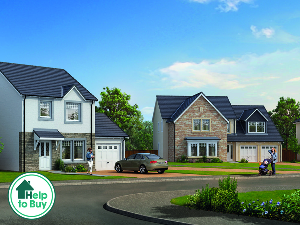 image of the Grange development street scene at Laurencekirk
