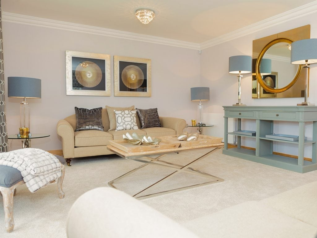 Lounge at Blairs Royal Deeside New Homes For Sale In Aberdeen
