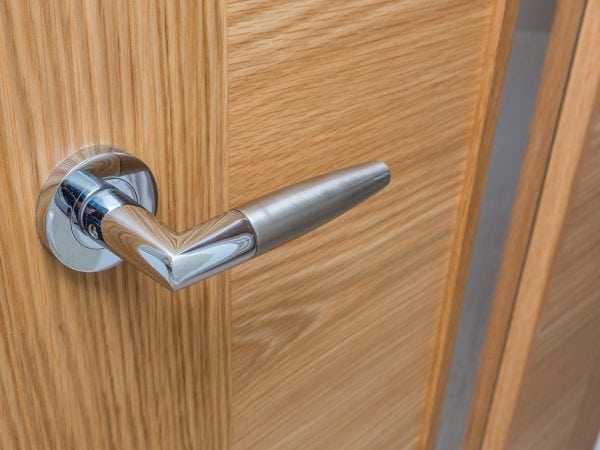 Sovereign Gate door handle close up