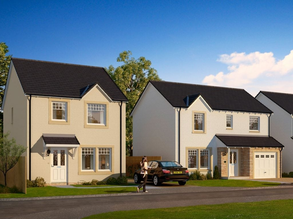 Streetscene - Strathord Park, new Homes in Stanley