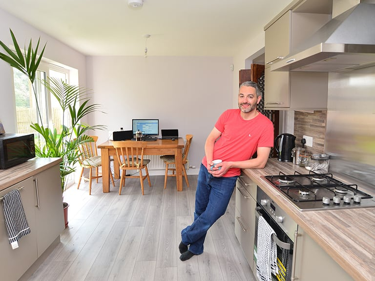 man in his new home in auchterarder