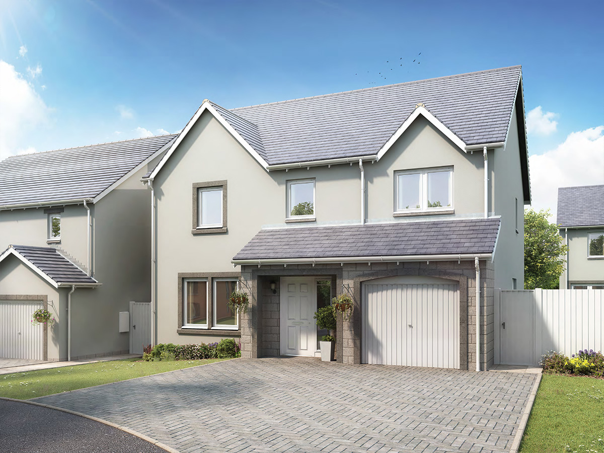The Iona - 5 bed detached villa with integral single garage